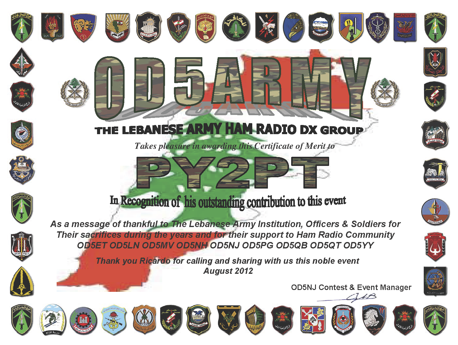 OD5ARMY The Lebanese Army Ham Radio DX Group Vintage Boys Gay Vintage3 Vintage Gays From The Past
